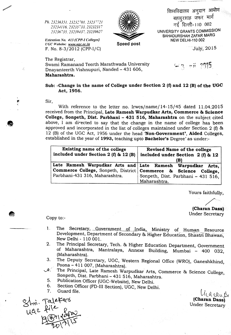 Late ramesh warpudkar arts commerce science college certification 1betcityfo Image collections